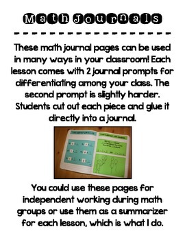 EnVision Math Topic 4 Journal