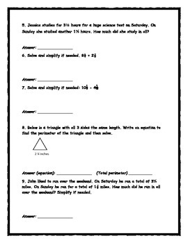 EnVision Math Topic Review 10- Grade 5