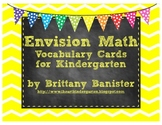 EnVision Math Vocabulary Cards for Kindergarten Chevron