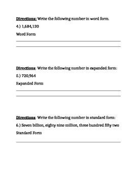 EnVision Topic 1, Lesson 1 Quiz- Resource Room