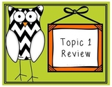 EnVision Topic 1 Review