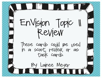 EnVision Topic 11 Review