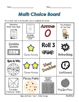EnVision Math Centers - Topic 2- Addition Strategies - Grade 2