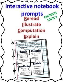 EnVision Topic 3 2nd grade R.I.C.E. Interactive Notebook