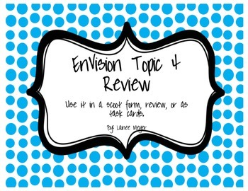 EnVision Topic 4 Review