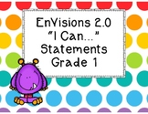 """EnVisions 2.0 Grade 1 """"I Can"""" Statements"""