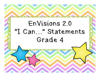 "EnVisions 2.0 Grade 4 ""I Can"" Statements"