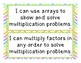 """EnVisions 2.0 Grade 3 """"I Can"""" Statements"""
