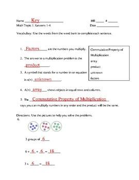 EnVisions 2.0 Grade 3 Topic 1 Quiz