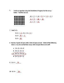 EnVisions 2.0 Grade 3 Topic 3 Quiz