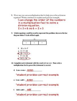 EnVisions 2.0 Grade 3 Topic 4 Quiz