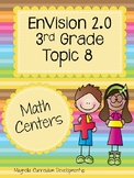 EnVisions 2.0 Math Centers Grade 3 Topic 8