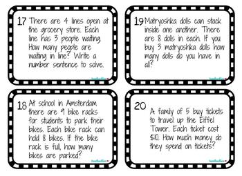 EnVisions 2.0 Topic 4 Relate Multiplication to Division Task Cards