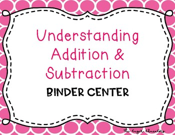 EnVisions Binder Center: Topic 1 - Understanding Addition and Subtraction