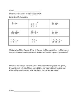 EnVisions Math Grade 4 Topic 12 Skill Checks