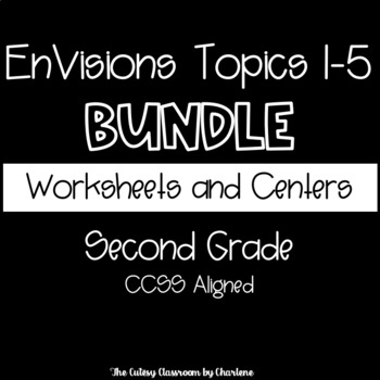 EnVisions Topic 1 - 5 Bundle Extra Practice Worksheets and Centers