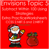 EnVisions Topic 5 Subtract Within 100 Using Strategies Worksheets 2nd Grade