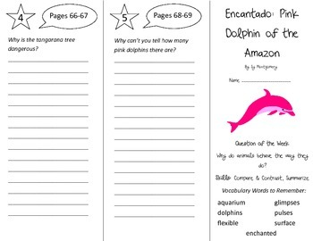 Encantado Pink Dolphin of the Amazon Trifold - Reading St 4th Gr Unit 4 Week 2