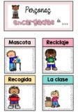 Encargados de clase | Classroom jobs Spanish