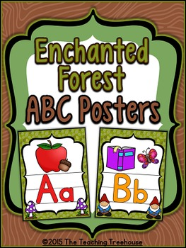 Enchanted Forest Alphabet Posters