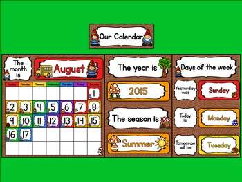 Enchanted Forest Classroom Calendar