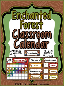 Enchanted Forest Classroom Calendar