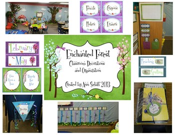 Enchanted Forest Classroom Decorations Editable
