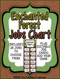 Enchanted Forest Classroom Helpers Clip Chart ~ Jobs Chart