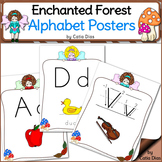 Enchanted Forest Classroom Theme - Alphabet Posters