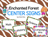 Enchanted Forest Classroom Theme - Center Signs