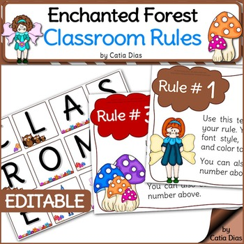 Enchanted Forest Classroom Theme - FREE Classroom Rules Posters