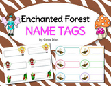 Enchanted Forest Classroom Theme - Name Tags