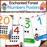 Enchanted Forest Classroom Theme - Numbers Posters
