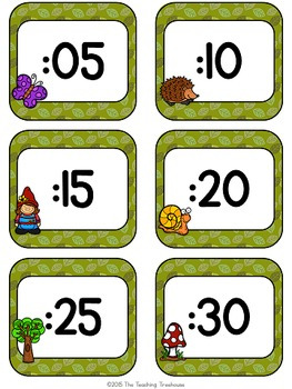 Enchanted Forest Clock Numbers