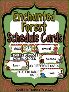 Enchanted Forest Schedule Cards