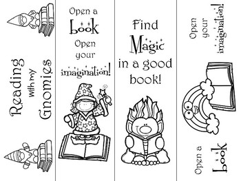 Enchanted Forest Themed Bookmarks