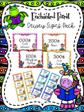 Enchanted Forest Themed Dewey Signs Pack