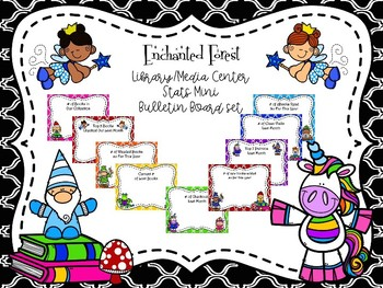 Enchanted Forest Themed Stats Mini Bulletin Board Set