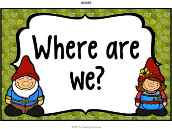 """Enchanted Forest """"Where Are We?"""" Clip Chart"""