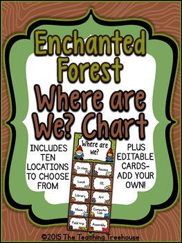 "Enchanted Forest ""Where Are We?"" Clip Chart"
