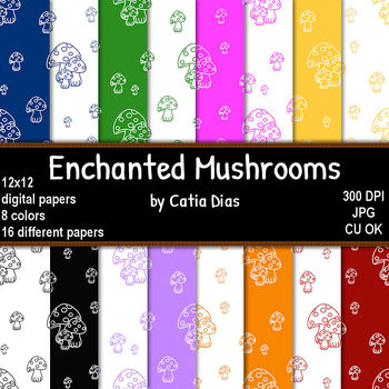 Enchanted Mushrooms - 16 Digital Papers