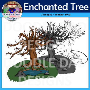 Enchanted Tree Clip Art (Fall, Autumn, Spring, Everlasting, Oak, Red leaves)