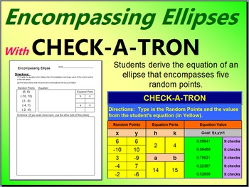 Encompassing Ellipses - 100 Student Sheets with CHECK-A-TRON