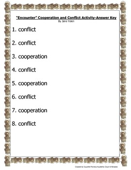 """Encounter"" Cooperation and Conflict Activity-USI4b"