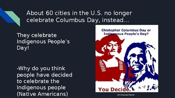 Encounter Lesson (Encounter by Jane Yolen) Indigenous People's Day/Columbus Day