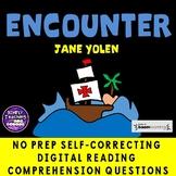 Encounter by Jane Yolen no prep Digital BOOM CARDS Christopher Columbus