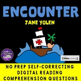 Encounter by Jane Yolen no prep Digital BOOM CARDS Columbus