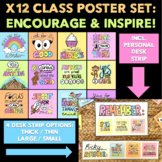 Encourage & Inspire: Class Poster Set (INCLUDES PERSONAL D