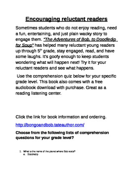 Encourage Your Reluctant Readers!!