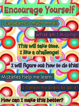 Encourage Yourself Growth Mindset Poster
